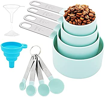Baeelyy 8-Piece Measuring Cups and Spoons Set