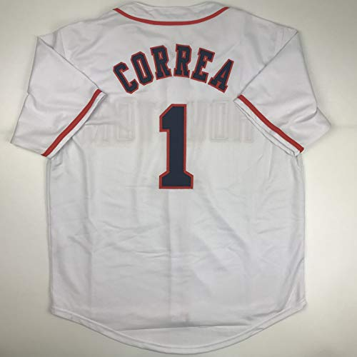 Unsigned Carlos Correa Houston White Custom Stitched Baseball Jersey Size Men's XL New No Brands/Logos