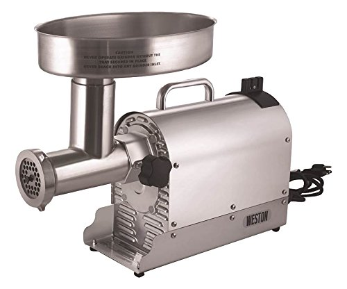 Weston (10-3201-W)  Pro Series Electric Meat Grinders (2 HP, 1500 Watts) -...