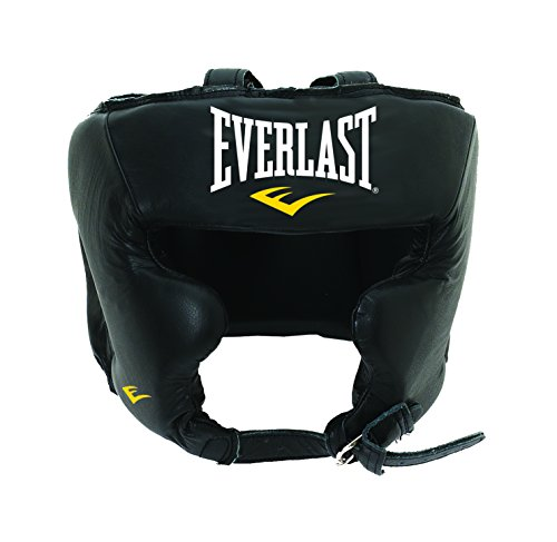 Everlast Erwachsene Boxartikel 340 Ce Leather Pro Trad Headgear Boxhandschuhe, Black, L/XL
