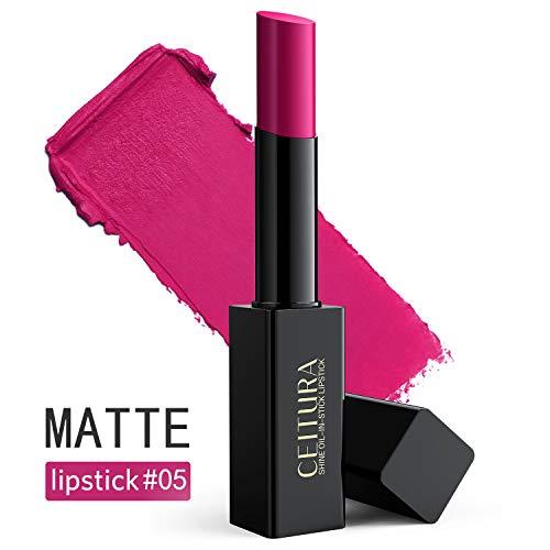CEITURA Moisture Matt Lippenstift für Personalisiert Make-up,verleiht intensive Farbe und extreme,Edles Lila #005, 1 pack