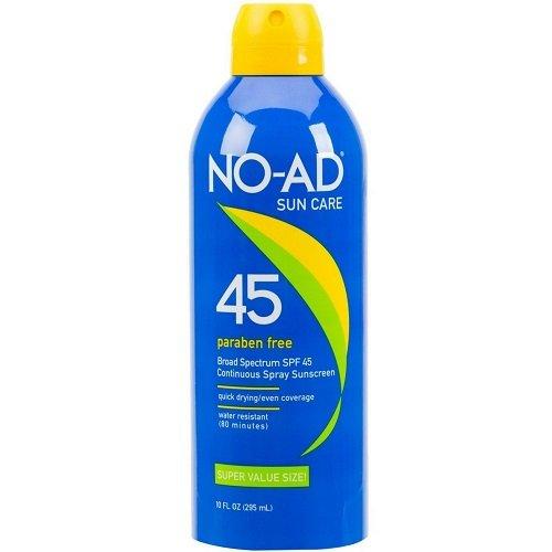 NO-AD Continuous Spray Sunscreen SPF 45 10 oz