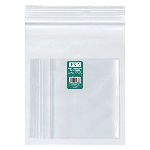 PKA 16398 - Pack de 100 bolsas de plástico con autocierre, 250x320 mm