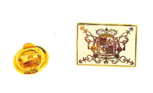 Gemelolandia | Pin de solapa Bandera Blas de Lezo 18x13mm | Pines Originales Para Regalar | Para las Camisas, la Ropa o para tu Mochila | Detalles Divertidos
