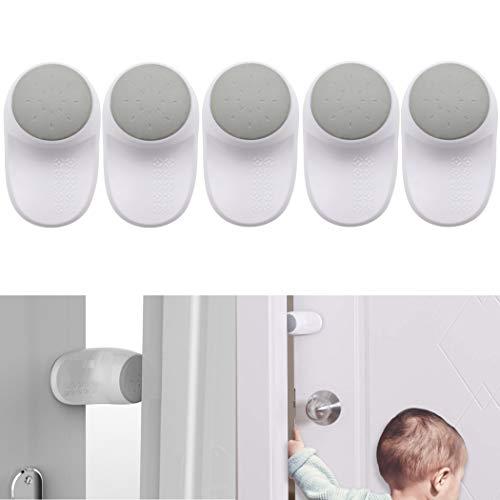 Premium Klemmschutz für Türen, für Kinder und Haustiere, 4 er Pack zum Kleben, um 180° Grad drehbar, Einklemmschutz An- und Ausstellbar, Fingerklemmschutz für Tür und Fenster, Babysicherung für Türen