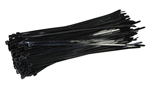 100/pieza profesional presilla Negro 250/mm x 7,6/mm XXL fuerte y de ancho 54,4/kg Fuerza de tracci/ón de damstone