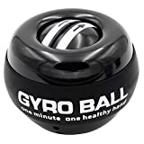 BrilliStar Wrist Trainer Ball, Auto-Start Hand Strengthener Decompression Fitness Exerciser Wrist Power Gyroscope Ball for Training Hand or Arm Muscle (Black)