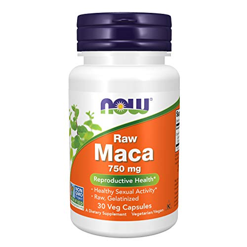 NOW Supplements, Maca (Lepidium meyenii) 750 mg Raw, Reproductive Health*, 30 Veg Capsules