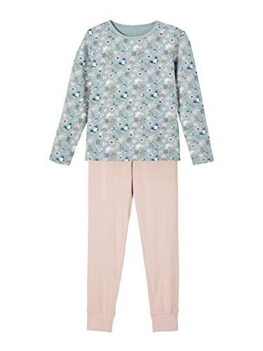 NAME IT Mädchen Nkfnightset Pale Mauve Flower Noos Pyjamaset, 158-164 (2er Pack)