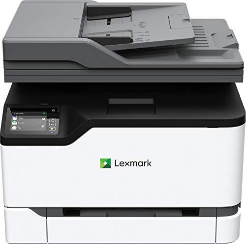 Lexmark MC3224ADWE 4-in-1 Farblaser-Multifunktionsgerät (Drucker, Kopierer, Scanner, Fax, WLAN, LAN, bis zu 22 S./Min.,autom. beidseitiger Druck, 7,2 cm-Touchscreen) schwarz/grau