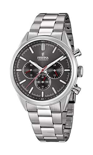 Festina Herren Chronograph Quarz Uhr mit Edelstahl Armband F16820/7