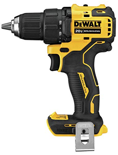 DEWALT ATOMIC 20V MAX Cordless Drill, 1/2-Inch, Tool Only (DCD708B)