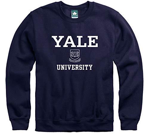 Ivysport Yale University Crewneck Sweatshirt, Crest, Navy, Small