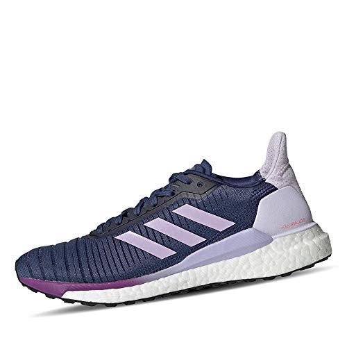 adidas Solar Glide 19, Zapatillas de Carretera Mujer, Tech Indigo FTWR White Purple Tint, 38 EU