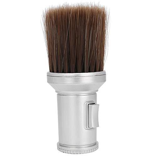 Hair Sweep Hair Cleaning, Brosse de nettoyage, Neck Duster Beard Shaving Brush Hair Cutting Beard Shaving(Silver)