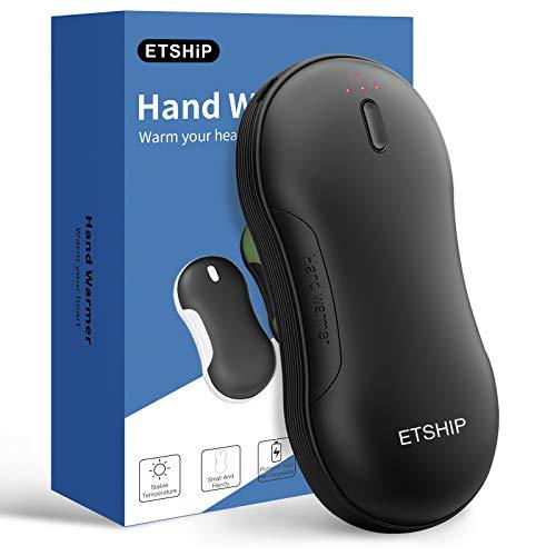 ETSHiP充電式 電気カイロ 9000mAh大容量 電子USB カイロ 3階段温度調節可能 高速充電 1台2役 携帯充電器 暖手 軽量 誕生日 贈り物通勤 通学 寒さ対策 iPhone12の充電をサポート
