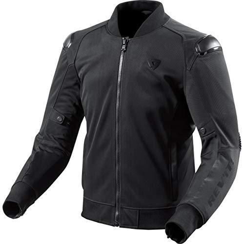 REV'IT! Motorradjacke mit Protektoren Motorrad Jacke Traction Textiljacke schwarz XL, Herren, Sportler, Sommer