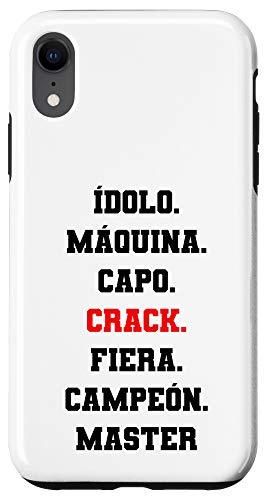 iPhone XR Idolo Maquina Capo CRACK Fiera Campeon Master Diseño Chingon Case