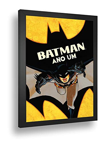 Quadro Decorativo Poste Batman Ano Um Bruce Wane Retro
