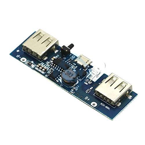ZTSHBK 5V 1A 2A Cargador de Banco de energía móvil Módulo de Control de versión de Software Tarjeta de Carga de batería de Litio de polímero Micro USB Step Up