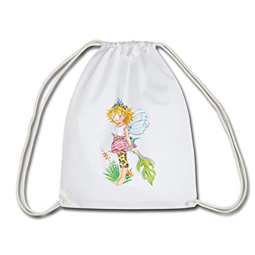 Spreadshirt Prinzessin Lillifee mit Monstera Turnbeutel, Weiß