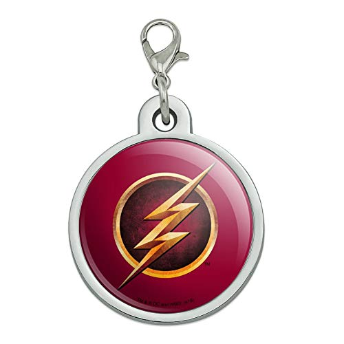 GRAPHICS & MORE The Flash TV Series Logo Chrome Plated Metal Pet Dog Cat ID Tag