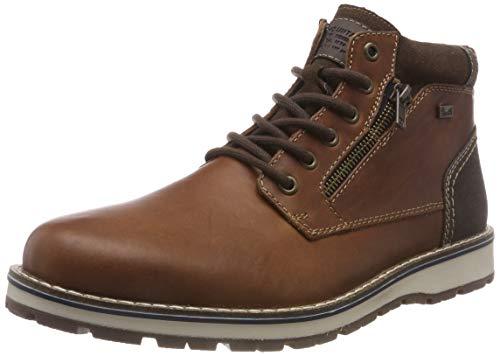 Rieker Herren 38433 Klassische Stiefel, Braun (Amaretto/Moro/Moro 24), 44 EU