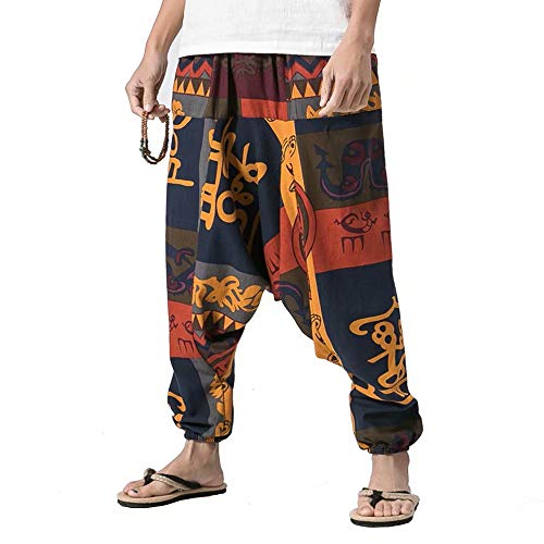zhenzhou 2018 Spring Chinese Style Cotton Linen Male Loose Casual Pants Men