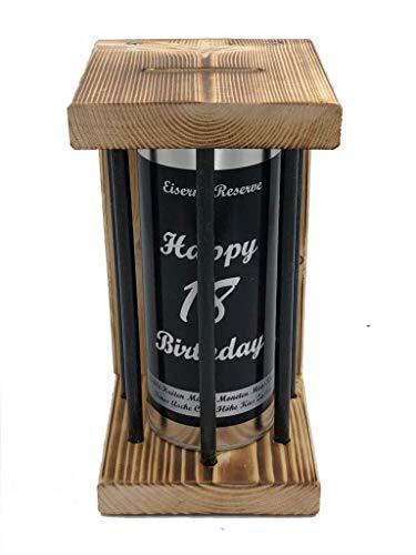 Happy Birthday 18 Eiserne Reserve ® Black Edition Spardose witzige Sparbüchse, Geschenkidee Geldgeschenk Sparbüchse Geschenk