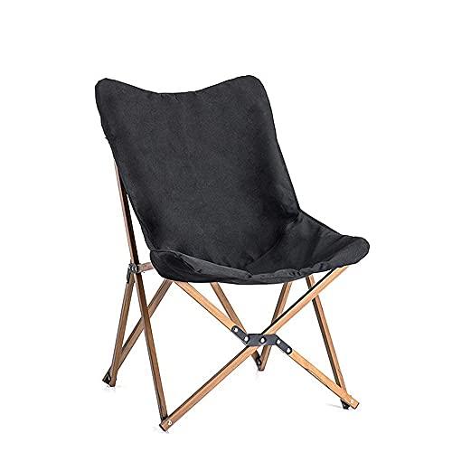 BBZZ Silla de camping ultraligera, sillas de camping portátil, silla de ocio, resistente, alta, ligera, duradera, para camping, festivales, jardín, caravana