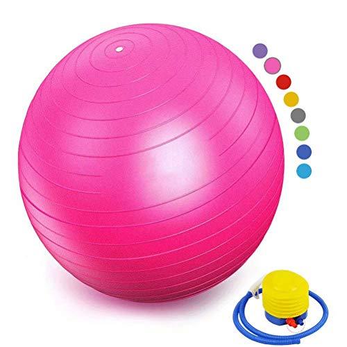 YANGJUNXI Schwangerschaft Yoga Pilates - Fitness Ball für Rückenübungen und Dehnübungen,Rosa-98cm