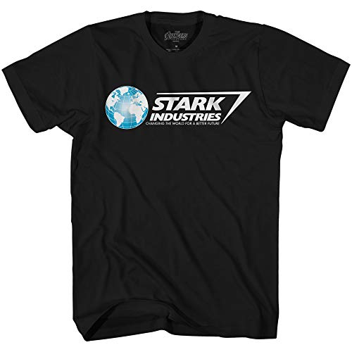 Marvel Iron Man Stark Industries Avengers T-Shirt(Black,Large)