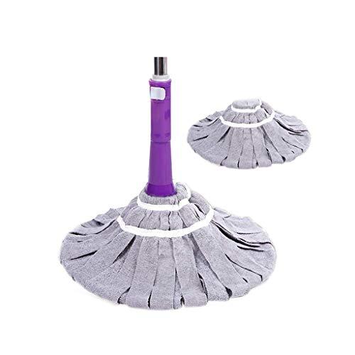 GFDFD Microfibra Twist Mop Pulgadas Limpiadoras de Polvo Fregona de Manos Libres Limpieza de Pisos con Cabezales extraíbles Lavables Mejora de Productos y empaques