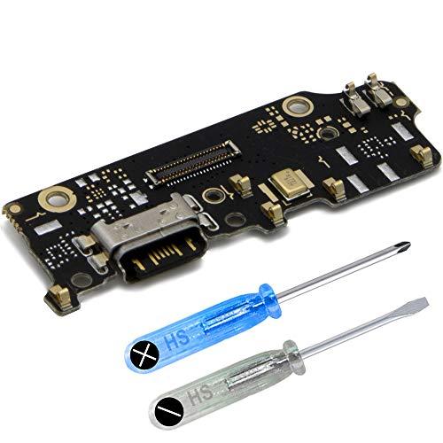 MMOBIEL Repuesto Conector Dock Carga USB Typ C 1.0 Compatible con Xiaomi Mi A2 Incl. Conexión Micrófono y Altavoz