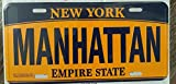 EpochSign Manhattan New York Matrícula de 6 x 12 Pulgadas