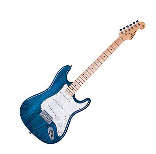 SX E-Gitarre SC USA Swamp Esche / Ahorn – Transparent Blau