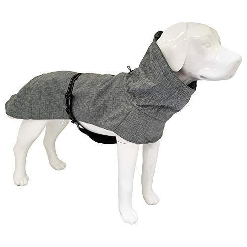 Croci Hiking Hundemantel, wasserdicht, für Hunde, gefüttert, Wintermantel, Thermofleece-Futter Everest Grey, Größe 35 cm - 194 g