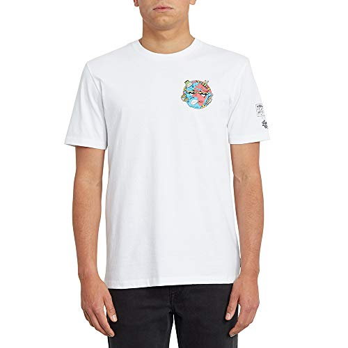 Volcom Freaks City FA Ss Herren-T-Shirt L weiß (White Flash)