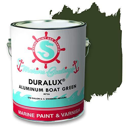 Duralux M736-1 Aluminum Boat Marine Paint, Green Boat Paint, 1 Gallon