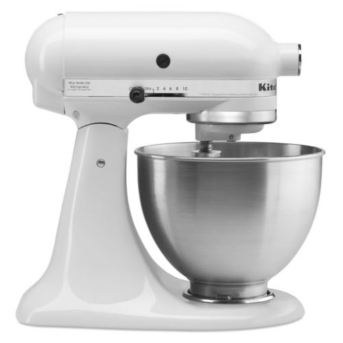 KitchenAid 4.5 Qt. White with Silver Ribbon Stand Mixer