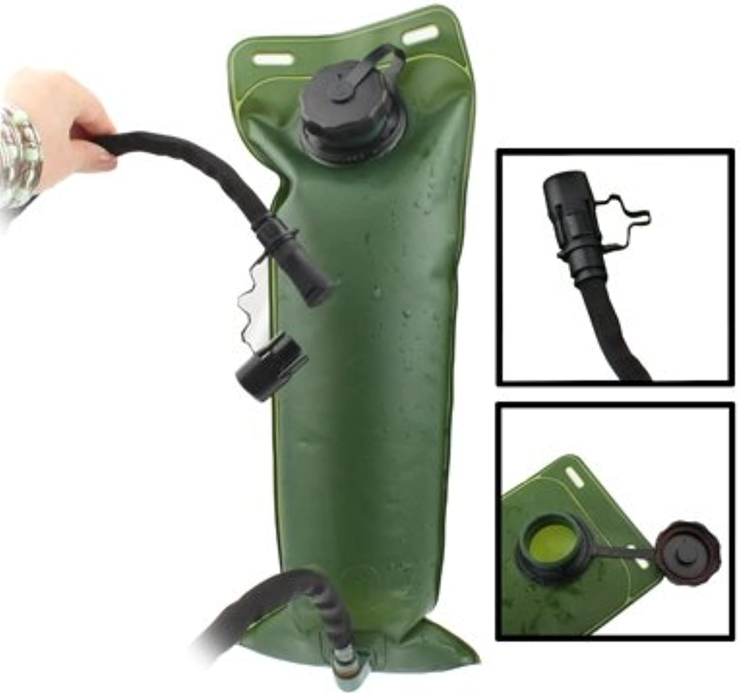 GuoBomatealliance Camping Camping Outdoor Hiking Camping Army Green 3L Water Bag with Tube