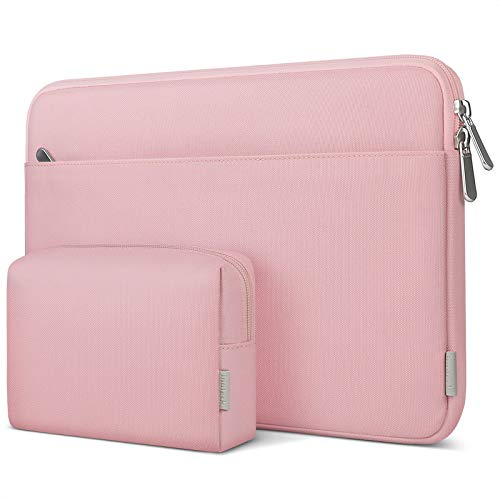 Inateck 14 Inch Laptop Case Sleeve Compatible with Chromebook Ultrabook Notebook Matebook 14, MacBook Pro 15 2016-2019, Surface Laptop/Surface Book 13.5 Inch - Pink
