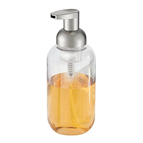 Price comparison product image iDesign Duo Foam Hand Soap Dispenser,  Made of Plastic,  Clear / Silver
