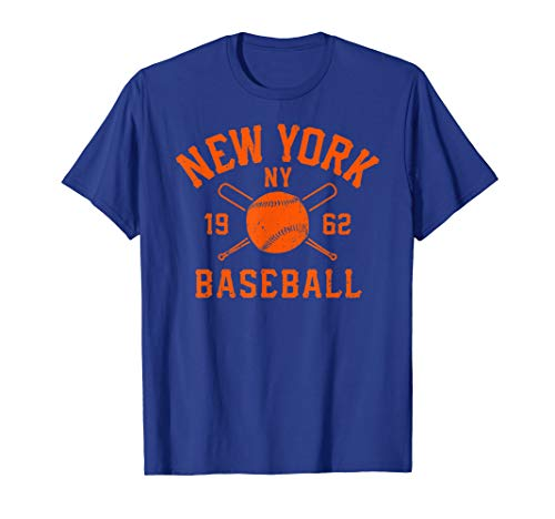 Vintage New York-Baseball Queens NY Distressed T-Shirt