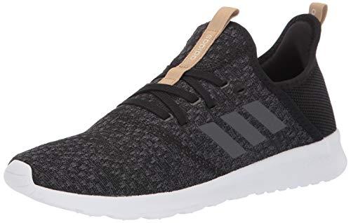 adidas Women's Cloudfoam Pure Running Shoe, Black/Grey/Black, 8.5 Medium US
