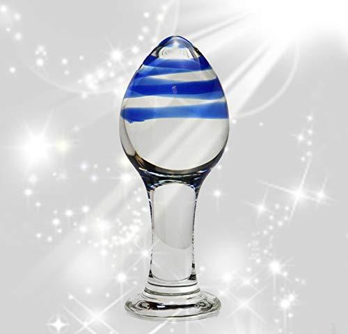 Cuentas de cristal de vidrio transparente azul para hombres y mujeres