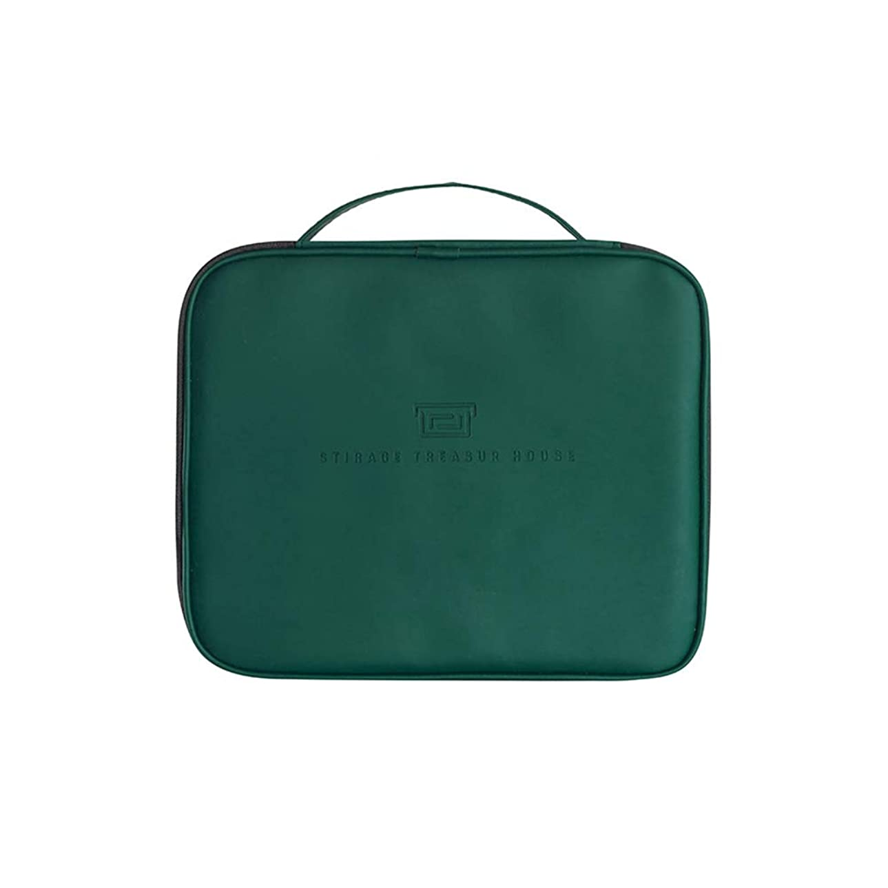 小競り合い離れてポータルHOYOFO メイクボックス 化粧ポーチ コスメボックス 仕切り板取り外し可能 持ち運び便利 化粧道具入れ 大容量 旅行 家用 濃いグリーン