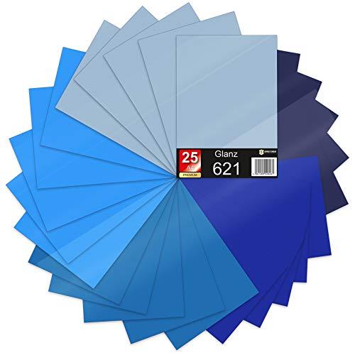 621/631 - Set di 25 fogli A4 autoadesivi, 29,7 x 21 cm, 621/631