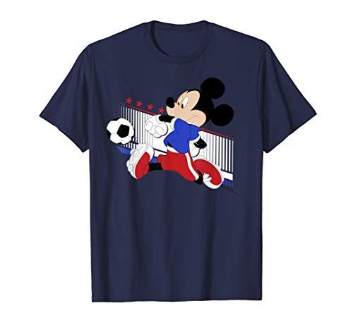 Disney Mickey Mouse French Soccer Uniform Portrait T-Shirt