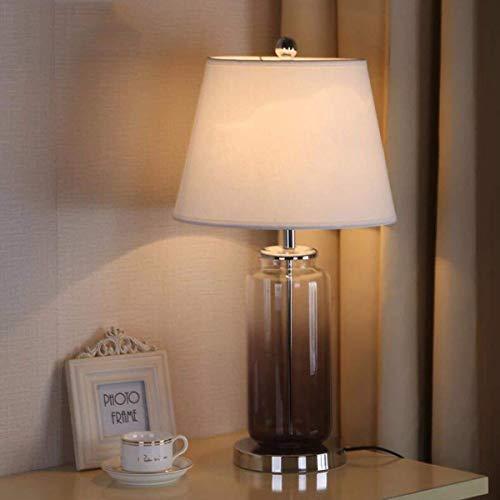 Jkckha nordic Lámparas de mesa, fino y elegante lámpara de mesa, lámpara cristalina creativa, dormitorio de noche, los niños que trabajan Rines decorativos Adecuado para dormitorio, sala de estar, ofi